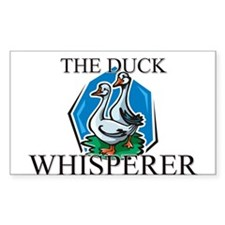 The Duck Whisperer Rectangle Decal