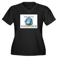 The Duck Whisperer Women's Plus Size V-Neck Dark T