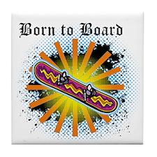 Born to Board Tile Coaster