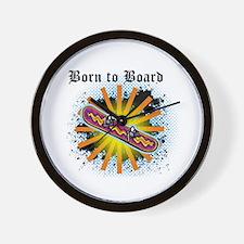 Born to Board Wall Clock