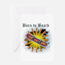Born to Board Greeting Card