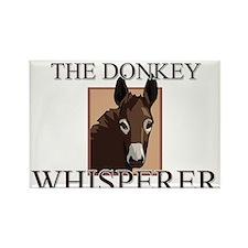 The Donkey Whisperer Rectangle Magnet