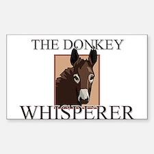 The Donkey Whisperer Rectangle Decal