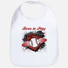 Born to Play Baseball Bib