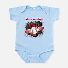 Born to Play Baseball Infant Bodysuit