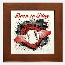 Born to Play Baseball Framed Tile