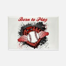 Born to Play Baseball Rectangle Magnet