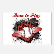 Born to Play Baseball Postcards (Package of 8)