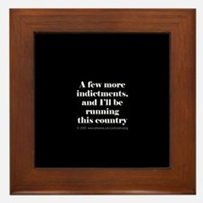 More indictments (mini type) Framed Tile