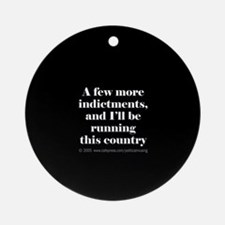 More indictments (mini type) Ornament (Round)