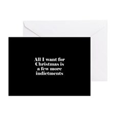 More indictments (mini type) Greeting Cards (Packa