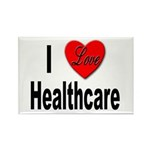 I Love Healthcare Rectangle Magnet (10 pack)