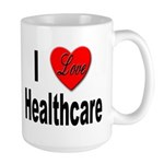 I Love Healthcare Large Mug