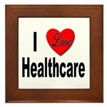 I Love Healthcare Framed Tile