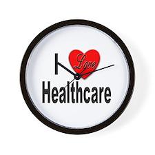 I Love Healthcare Wall Clock