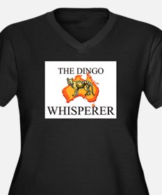 The Dingo Whisperer Women's Plus Size V-Neck Dark