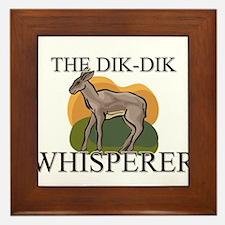 The Dik-Dik Whisperer Framed Tile