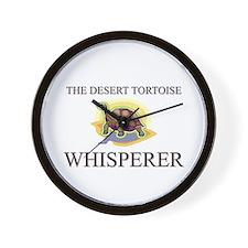The Desert Tortoise Whisperer Wall Clock