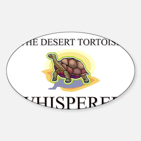 The Desert Tortoise Whisperer Oval Decal
