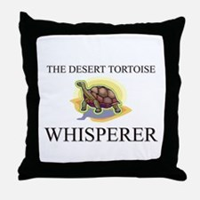 The Desert Tortoise Whisperer Throw Pillow