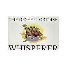 The Desert Tortoise Whisperer Rectangle Magnet