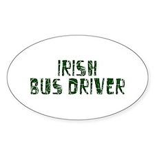 Irish Bus Driver Oval Decal
