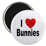 I Love Bunnies Magnet