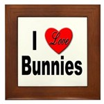 I Love Bunnies Framed Tile