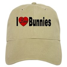 I Love Bunnies Baseball Cap