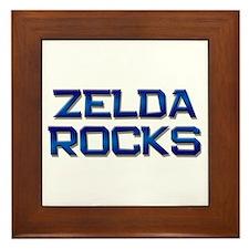 zelda rocks Framed Tile