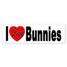 I Love Bunnies Bumper Bumper Sticker