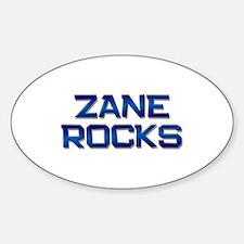 zane rocks Oval Bumper Stickers