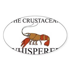 The Crustacean Whisperer Oval Decal
