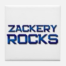 zackery rocks Tile Coaster