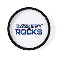 zackery rocks Wall Clock