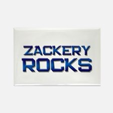 zackery rocks Rectangle Magnet
