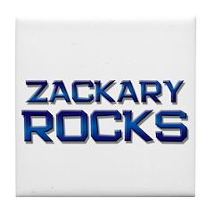 zackary rocks Tile Coaster