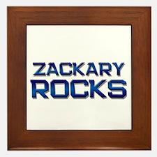zackary rocks Framed Tile