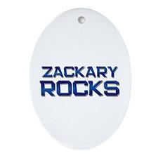 zackary rocks Oval Ornament