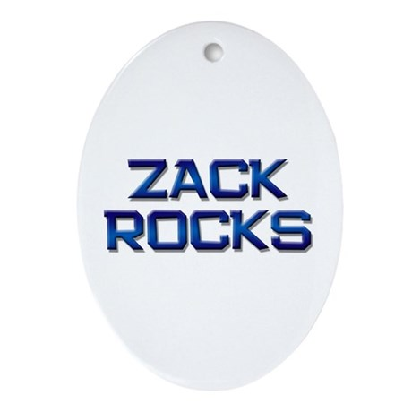 zack rocks Oval Ornament