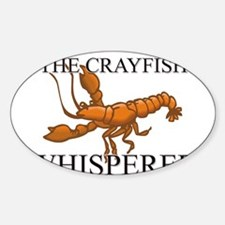 The Crayfish Whisperer Oval Decal