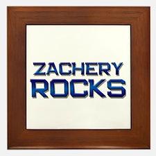 zachery rocks Framed Tile