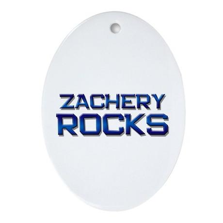 zachery rocks Oval Ornament