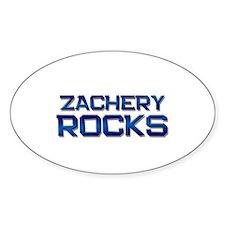zachery rocks Oval Decal