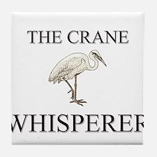 The Crane Whisperer Tile Coaster