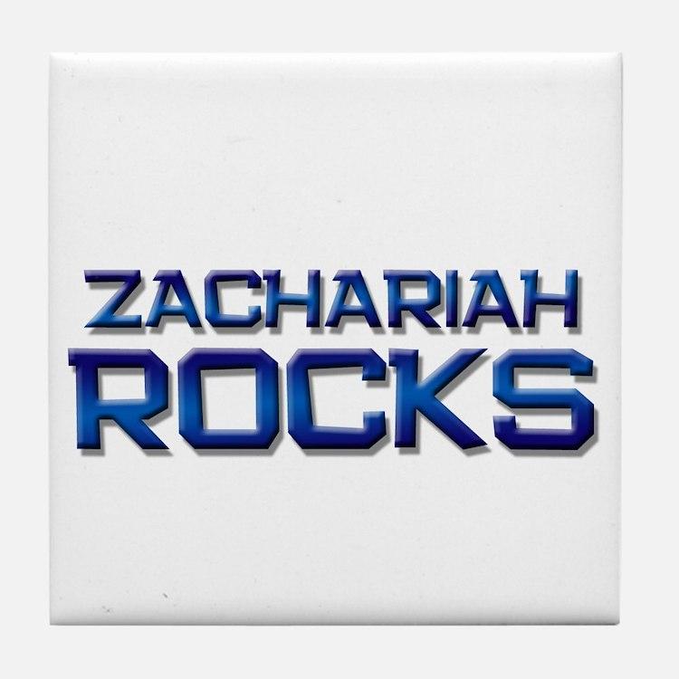 zachariah rocks Tile Coaster