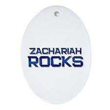 zachariah rocks Oval Ornament