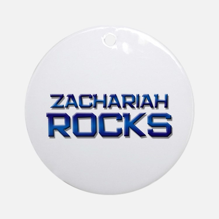 zachariah rocks Ornament (Round)