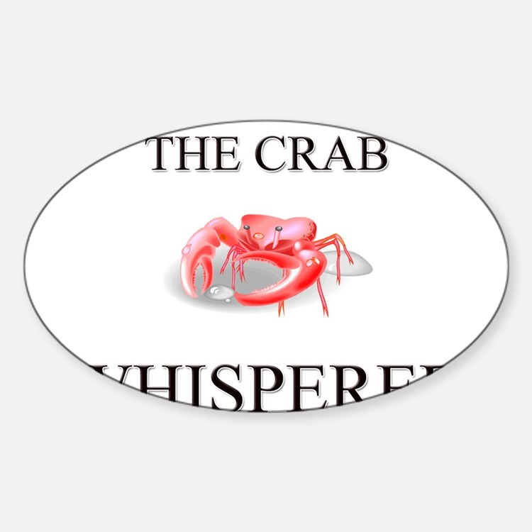 The Crab Whisperer Oval Decal