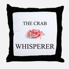 The Crab Whisperer Throw Pillow